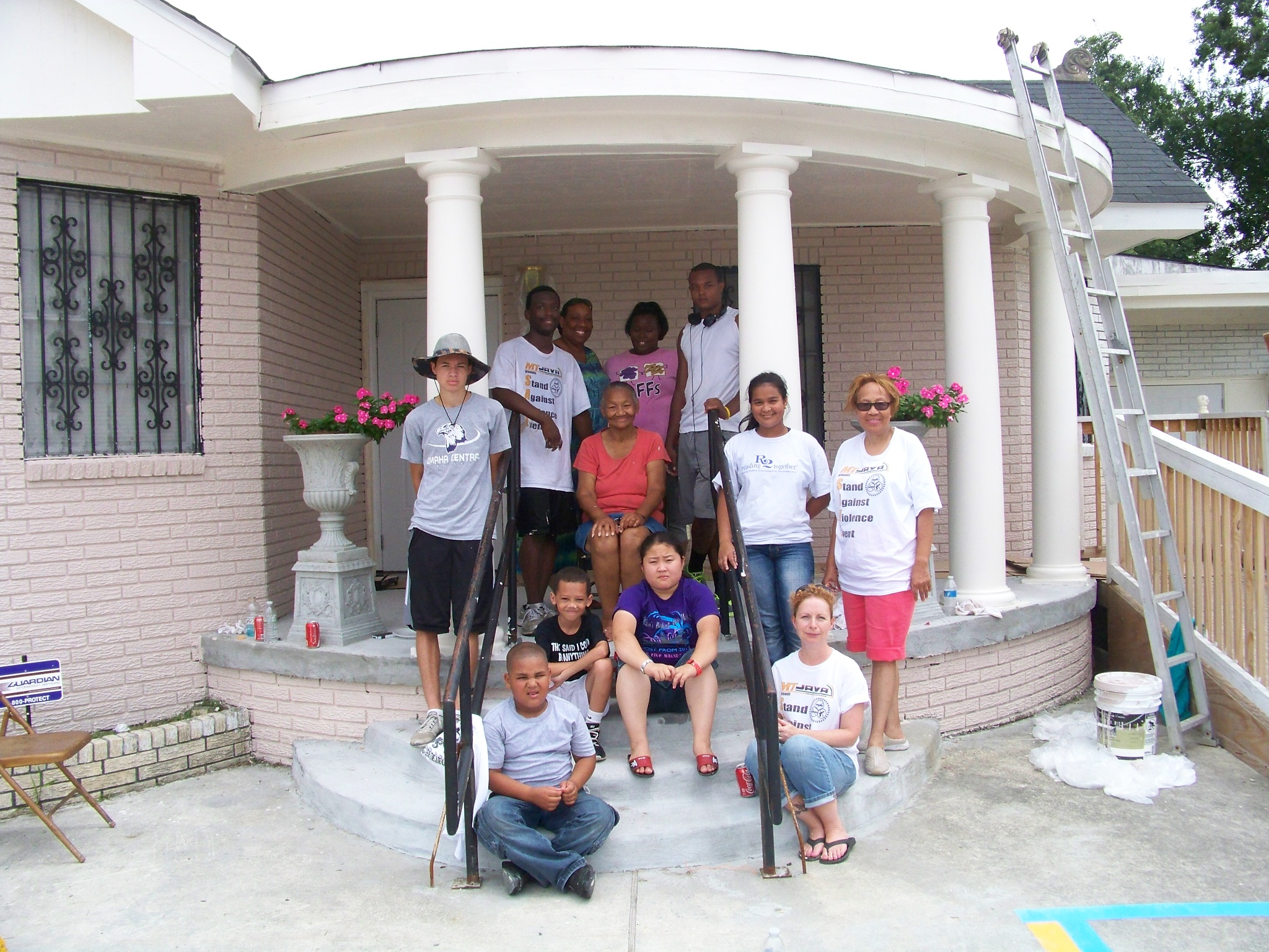 MT JAVA-Benson students at Beyond The Veil Women's Shelter of New Orleans
